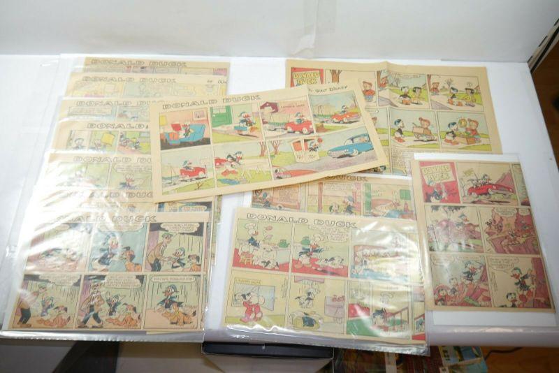 Walt Disney Donald Duck  Newspaper 12 Comic Strip´s von 1964  halbe Seiten (WR9E