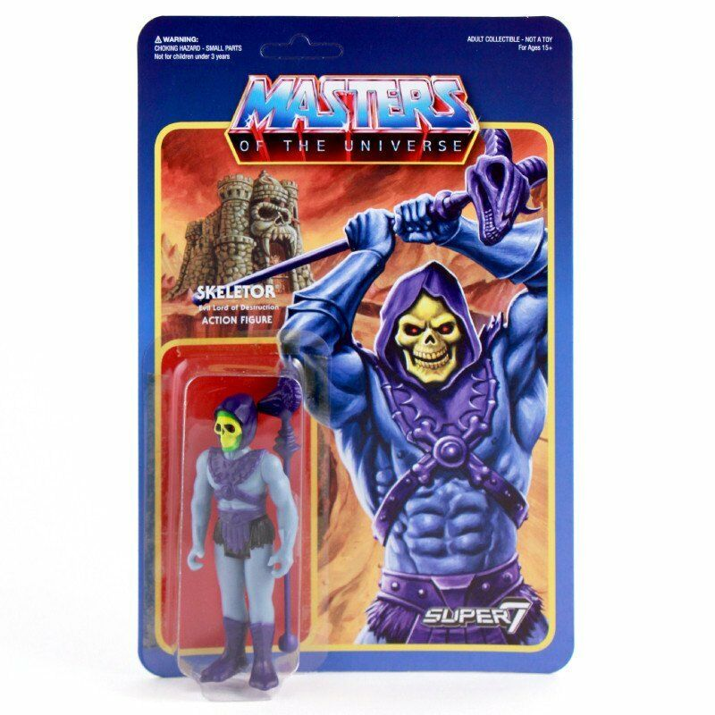 MASTERS OF THE UNIVERSE Motu Skeletor Actionfigur ReACTION SUPER 7 Neu (L)