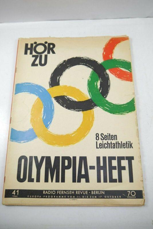 HörZu Olympia Heft Nr. 41 / 1964 Leichtathletik TV  Zeitschrift  Magazin   F29