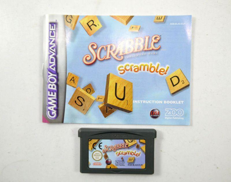 SCRABBLE Scramble Spiel GAME BOY ADVANCE mit Spielanleitung Nintendo (K85)