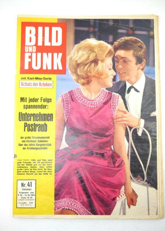 BILD UND FUNK Heft 41 / 1965 Zeitschrift Magazin - Karl May , Rex Gildo (WR8)