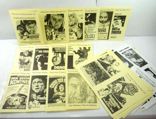 PHANTOPIA FILMPROGRAMM Konvolut ( 56 Hefte ) Circus der Vampire DRACULA (WRY)