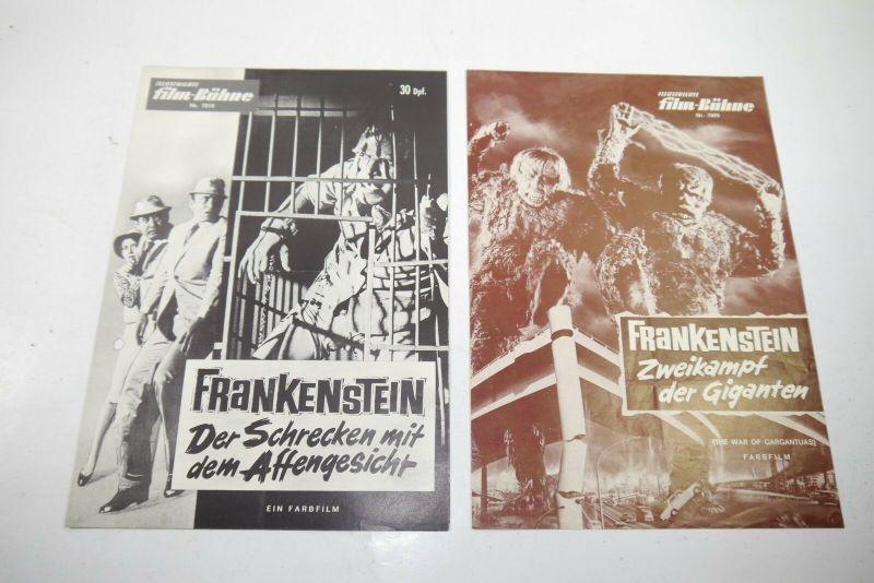 Illustierter Film Bühne  2 X Frankenstein 7865 + 7619 Filmprogramm  Z :gut (WR5)