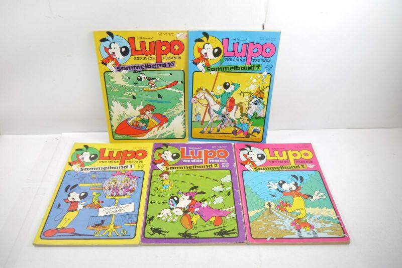 Lupo und seine Freunde  5 Sammelbände 1 2 3 7 10 Kauka  Z : 2-3   WR1