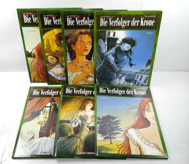 DIE VERFOLGER DER KRONE Band 1 2 3 4 5 6 7 Comic HC KULT EDITIONEN Dufaux (L)