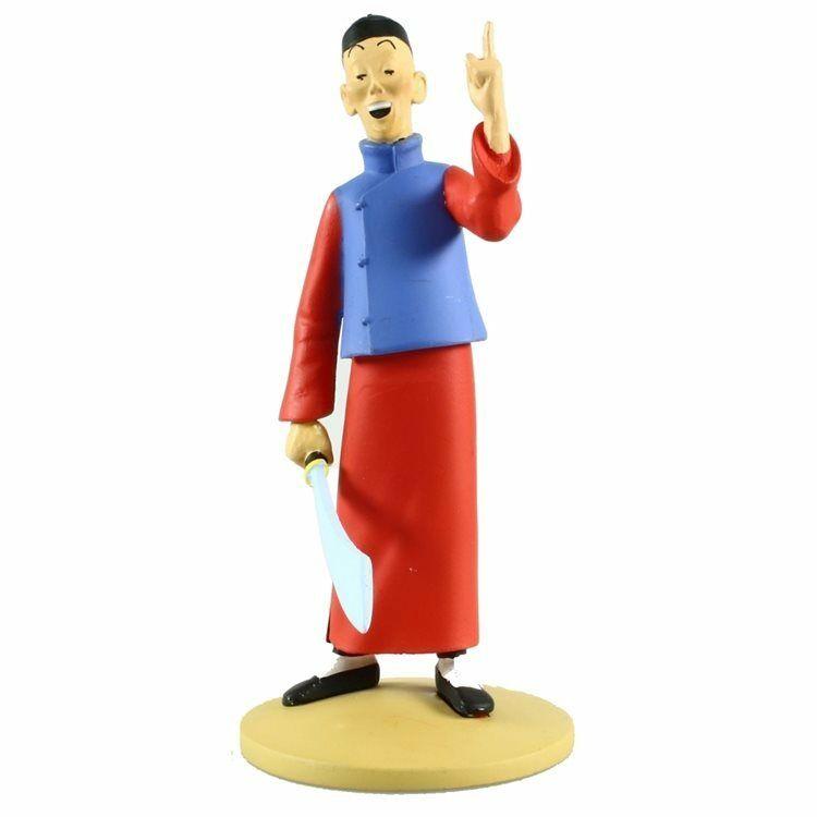 TIM & STRUPPI Tintin Der Blaue Lotus Didi Jen-Ghié Figur MOULINSART 12cm (L)*