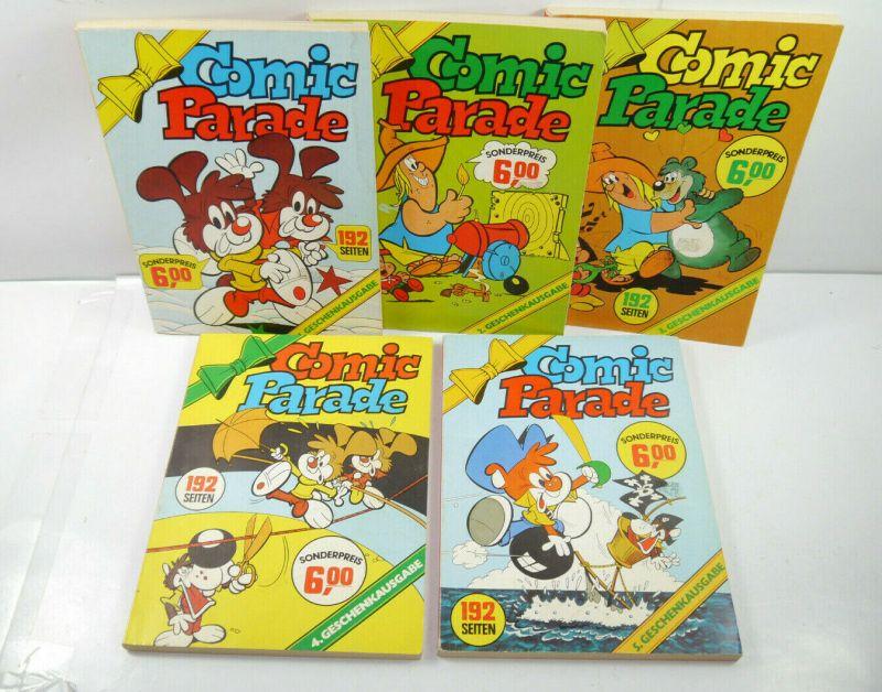 COMIC PARADE Band 1 2 3 4 5 Geschenkausgabe Taschenbuch KELTER (B7)