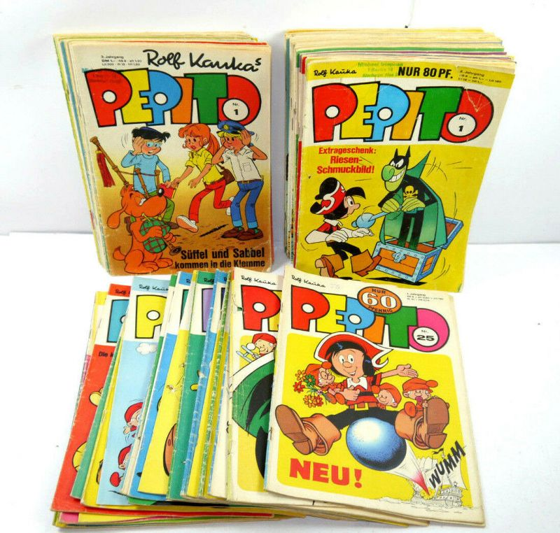 PEPITO Ralf Kaukas : 81 Hefte ( Jahrgang 1 , 2 , 3 ) Comic GEVACUR AG (B8)