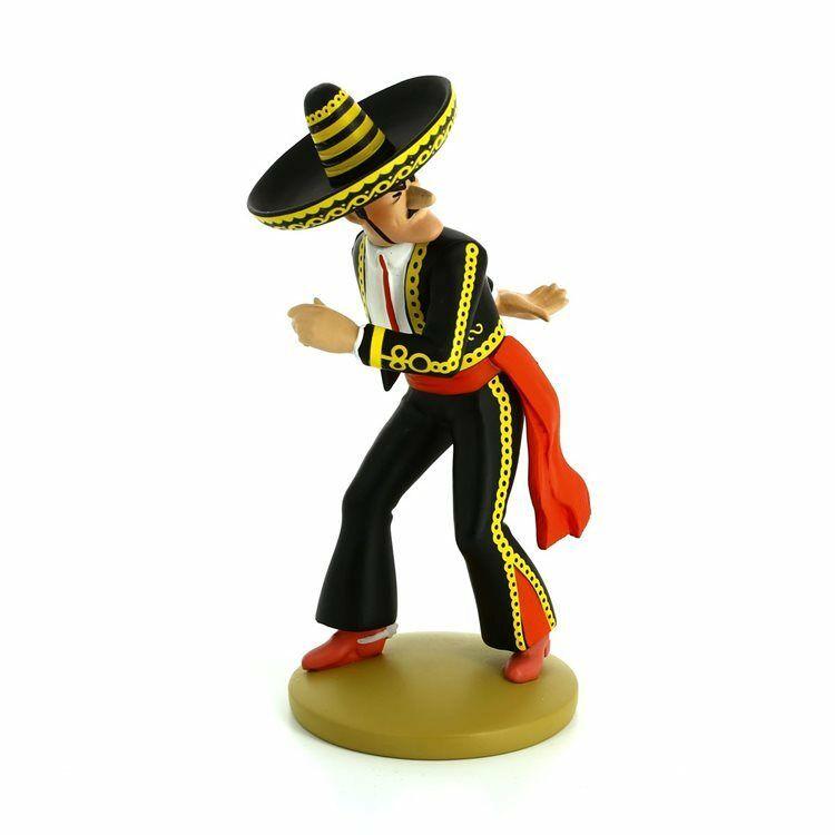 TIM & STRUPPI Tintin General Alcazar Messerwerfer Figur MOULINSART 12cm NEU (L)*