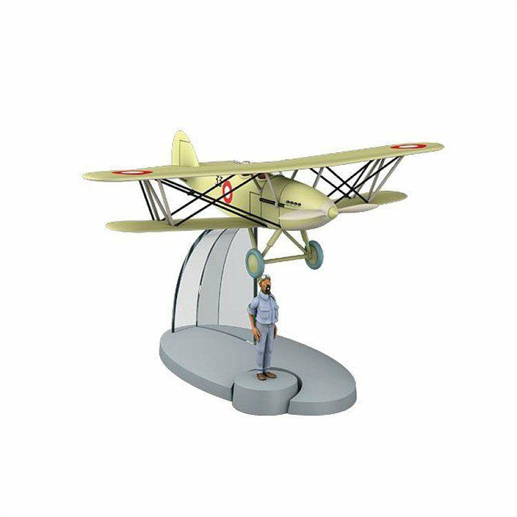 TIM & STRUPPI Flugzeug mit Pilot Lavion Tintin Moulinsart Modell 29553 (L)*