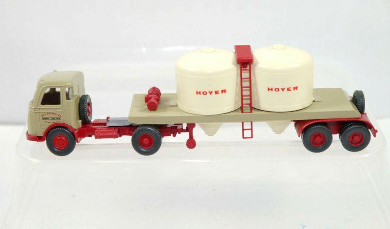 WIKING - HOYER Pullman Chemikaliensattelzug LKW Modellauto 1:87 (K11) #09