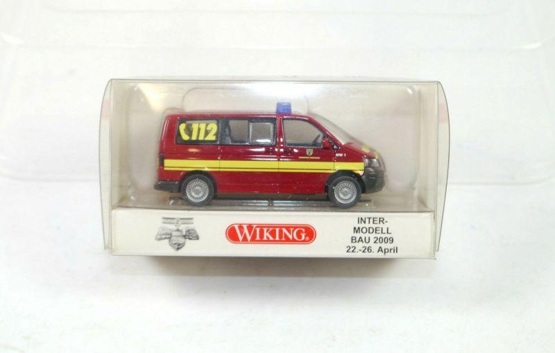 WIKING 0601 16 Feuerwehr 112 VW T5 Intermodell Bau 2009 1:87 (K11) #07