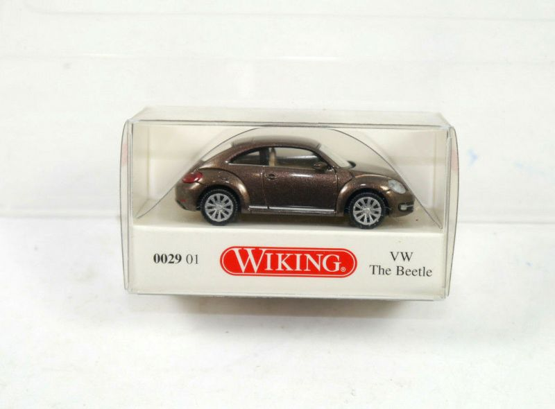 WIKING - 0029 01 VW Käfer the beetle braun brown Modellauto 1:87 (K11) #05
