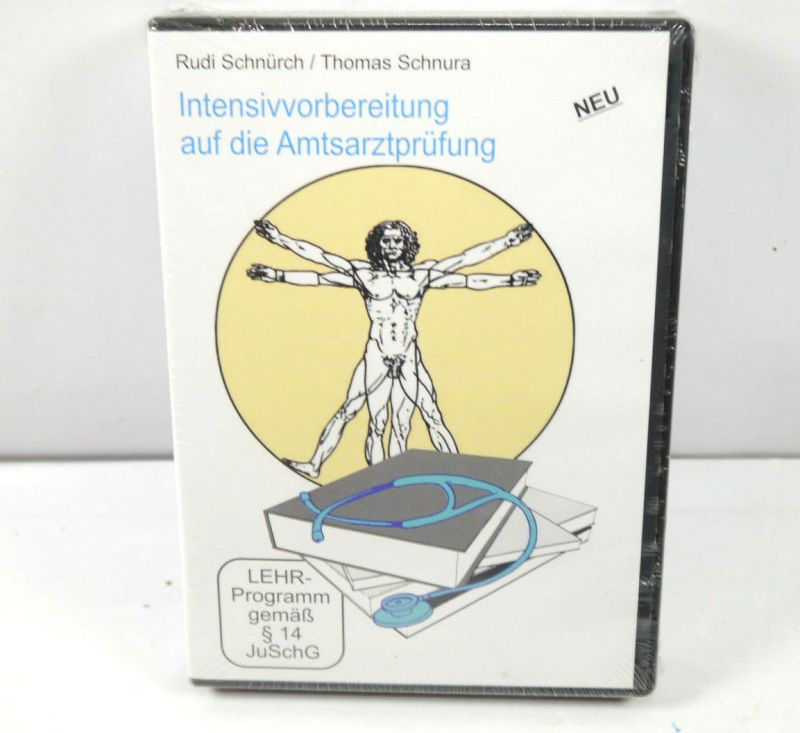 INTENSIVVORBEREITUNG AUF DIE AMTSARZTPRÜFUNG 5-DVD's Schnürch , Schnura NEU WR8