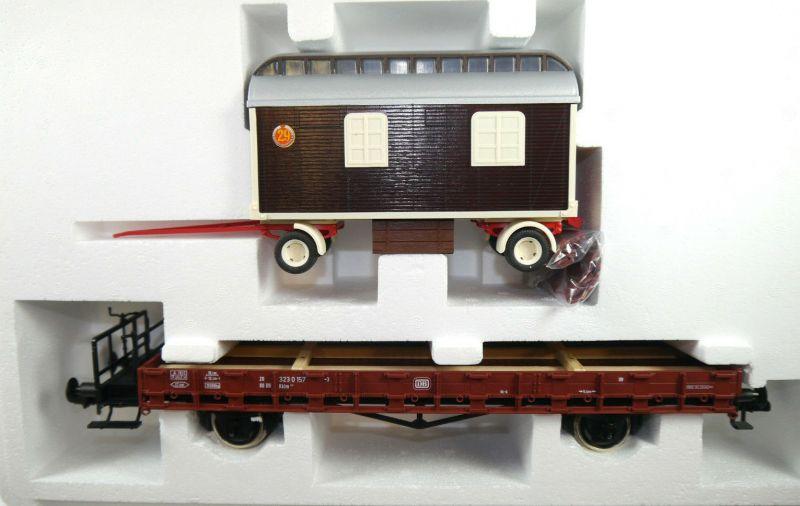 MÄRKLIN 58492 Zirkuswagen / Rungenwagen mit Beladung Set II Spur 1 (F17)