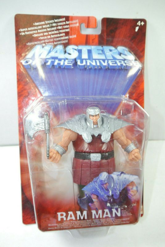 MASTERS OF THE UNIVERSE Motu 200X Ram Man Actionfigur MATTEL ca.15cm Neu (L)