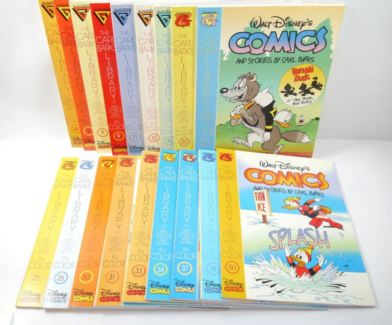 COMICS & STORIES Barks Libary 18 Comic englisch + Sammelkarten Gladstone (WR2)