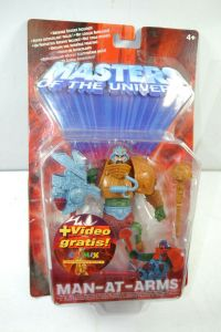 MASTERS OF THE UNIVERSE Man-At-Arms Actionfigur + VHS Videokassette MATTEL (L)