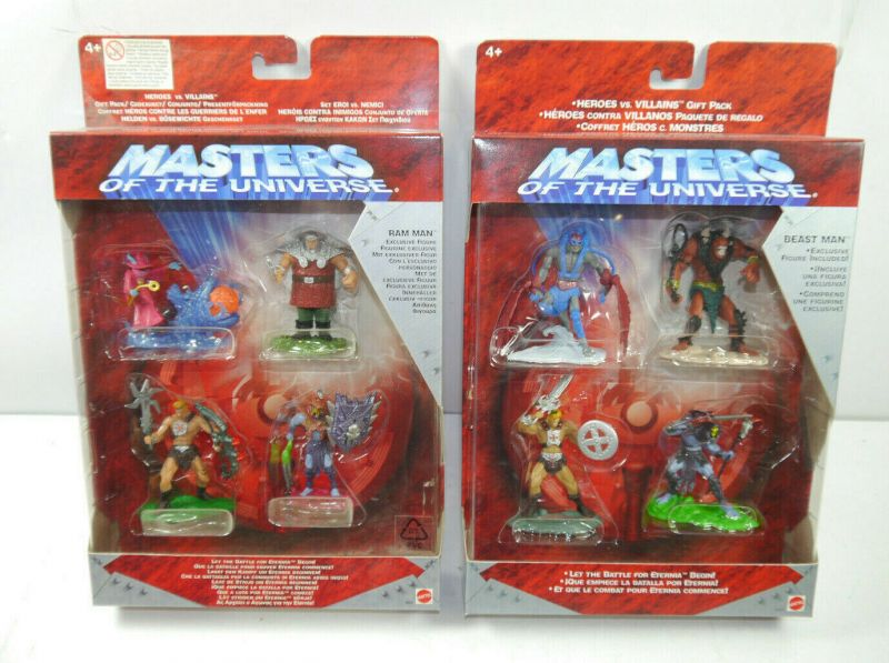MASTERS OF THE UNIVERSE Heroes vs Villains 8 Mini Figuren Eternia MATTEL Neu (L)