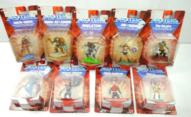 MASTERS OF THE UNIVERSE 9er Mini Figur Set MATTEL 7cm Neu Skeletor He-man (L)
