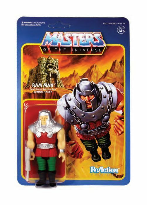 Masters of the Universe ReAction Actionfigur Wave 4 Ram Man 10 cm Super 7 (KB5)*