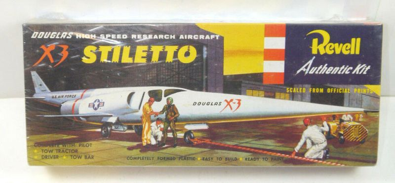 REVELL H-259 Douglas Aircraft X3 Stiletto 90er J. Modellbausatz 1:65 Neu (K35)