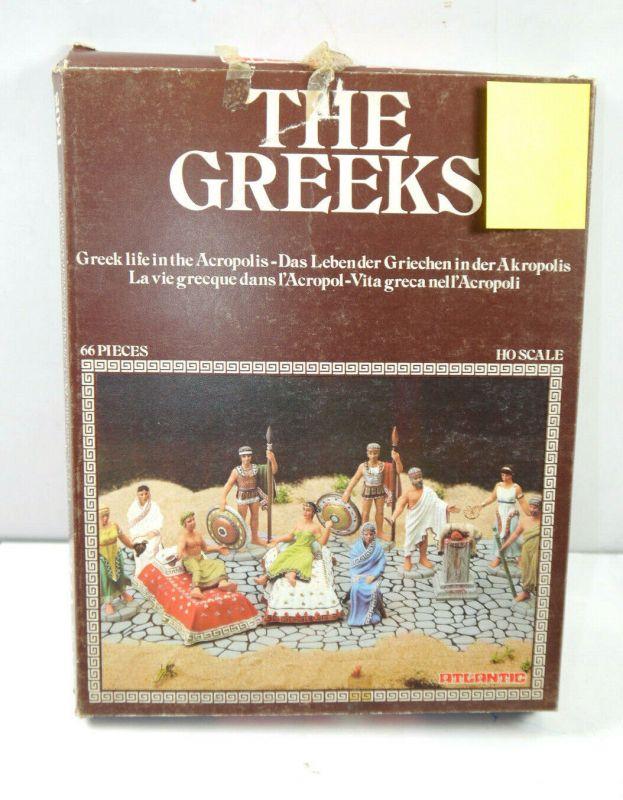 ATLANTIC 1508 The Greeks / Griechen Figur Modellbausatz ( 66 Teile ) H0 (K28)