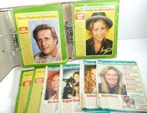 TV HÖREN UND SEHEN : 2 Ordner mit diversen Star Porträts ( 1974 - 1990 ) (WR5)