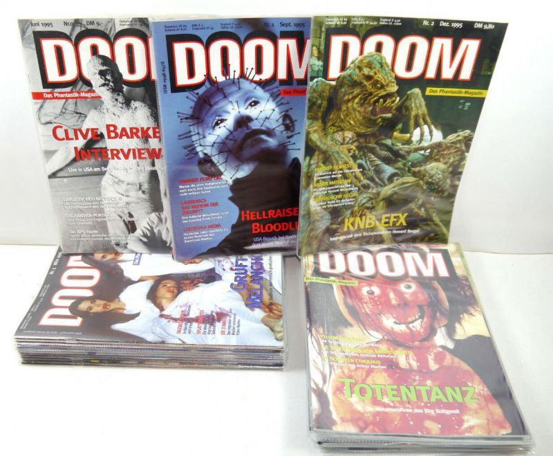 DOOM Das Phantastik Magazin   Heft 0 - 22 1995 - 2001 Film Hellraiser (WRZ)
