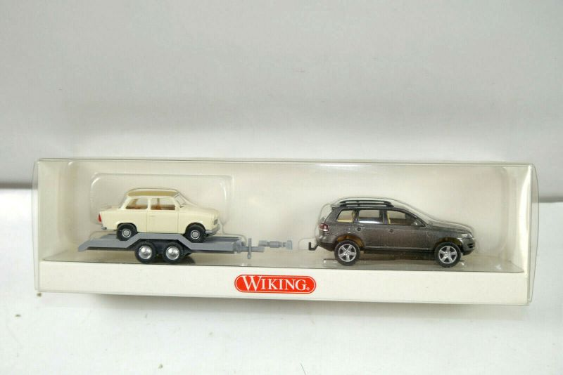WIKING 00974037 VW Touareg Gespann mit Trabant 601 S Modellauto 1:87 (K11) #26