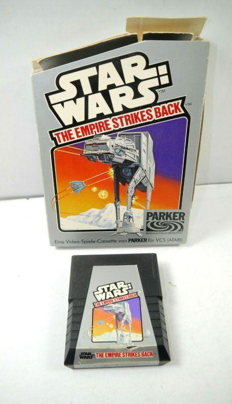 STAR WARS Empire Strikes Back Video-Spiel Kassette für Atari PARKER deu.Box K34