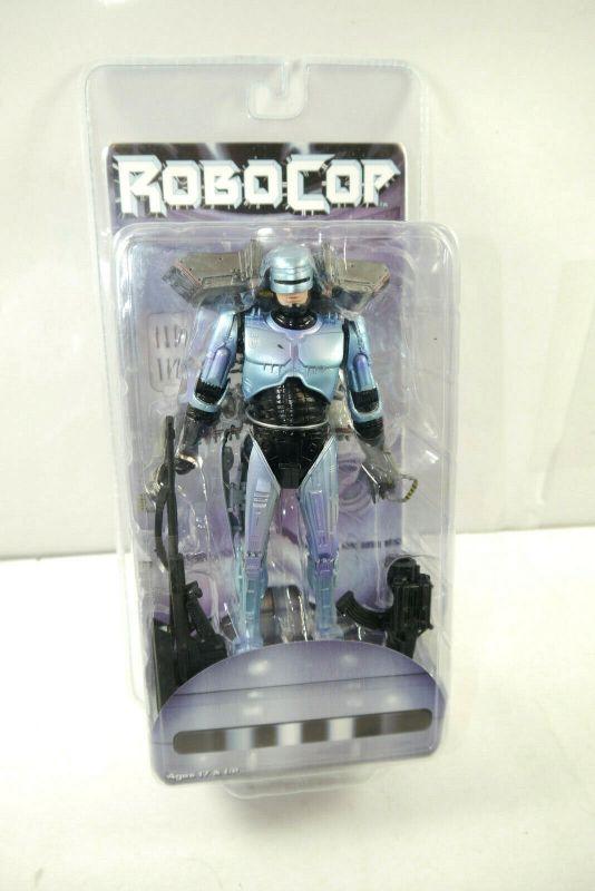 ROBOCOP Deluxe Robocop mit Raketenrucksack Jetpack Actionfigur NECA Neu (L)