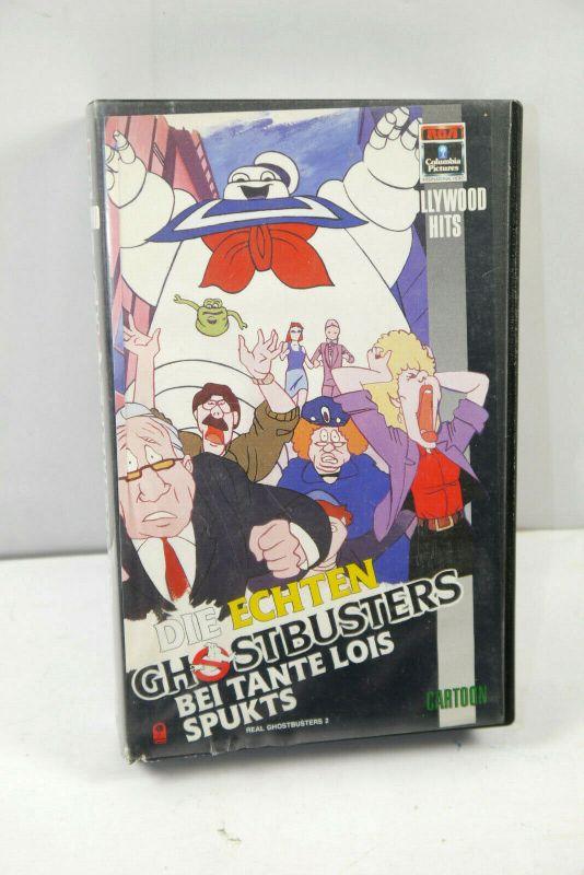 GHOSTBUSTERS # 2 Bei Tante Lois spukts VHS Video Kassette CARTOON (K67)