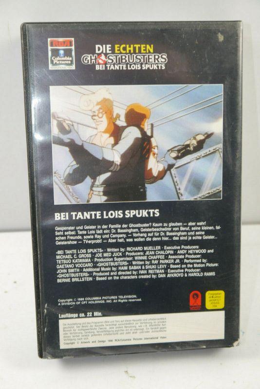 GHOSTBUSTERS # 2 Bei Tante Lois spukts VHS Video Kassette CARTOON (K67) 2