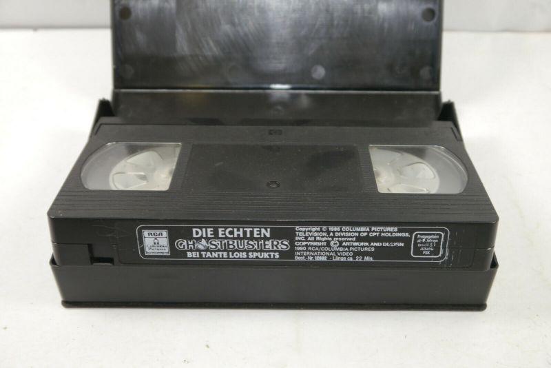 GHOSTBUSTERS # 2 Bei Tante Lois spukts VHS Video Kassette CARTOON (K67) 3