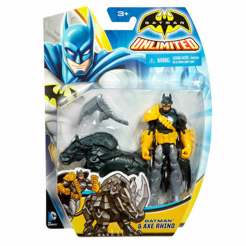 BATMAN Unlimited Batman & Axe Rhino Actionfigur MATTEL ca.10cm   (KA10)