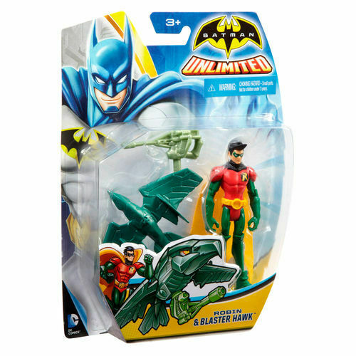 BATMAN Unlimited Robin & Blaster Hawk  Actionfigur MATTEL ca.10cm   (KA10)