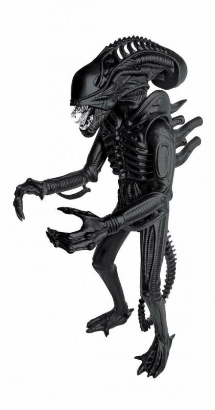 ALIENS Super Size Alien Warrior Actionfigur CLASSIC TOY Super 7 black 46cm (L)