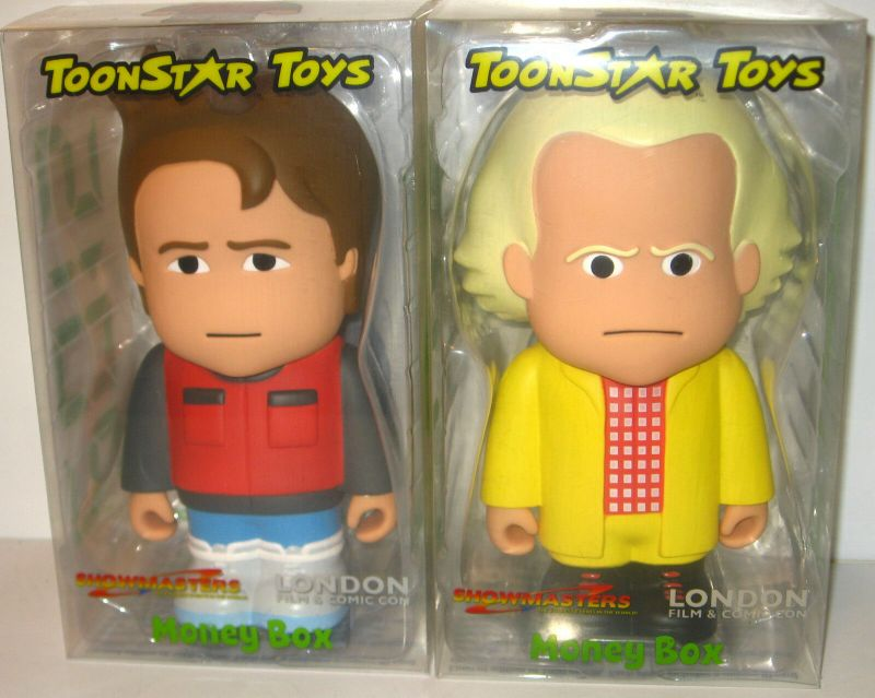 BACK TO THE FUTURE Marty McFly & Dr. Brown 2015 Money Box TOONSTAR TOYS KB1