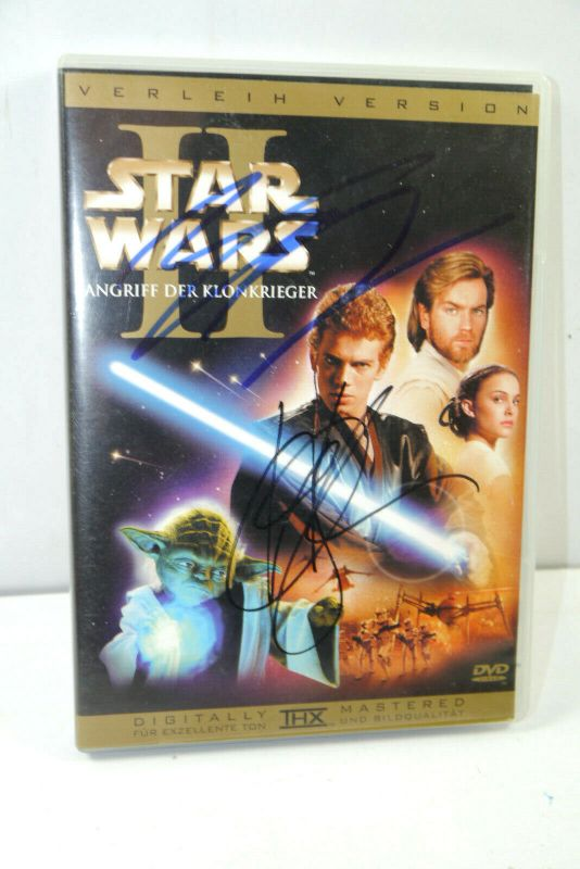 STAR WARS Angriff der Klonkrieger 2-Disc DVD Autogramm McGregor & Frank Oz (WR2)