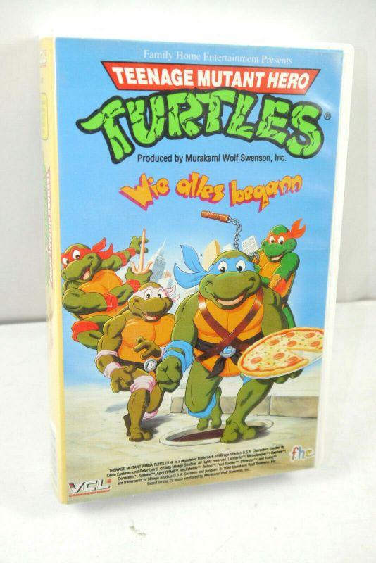 TEENAGE MUTANT HERO TURTLES Wie alles begann VHS Kassette Zeichentrick (WR2)