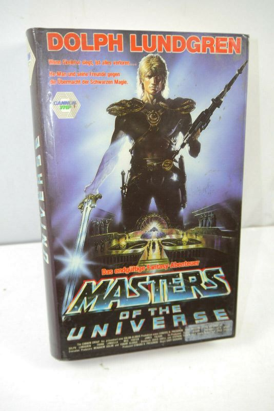 MASTERS OF THE UNIVERSE VHS Video Kassette CANNON VMP Dolph Lundgren (WR2)