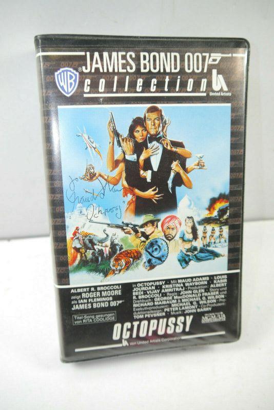 JAMES BOND 007 Collection - Octopussy VHS Kassette / Autogramm Maud Adams (WR2)