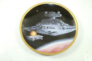 STAR WARS Hamilton Collection Star Destroyer Sammelteller Teller plate 1995 (K7)
