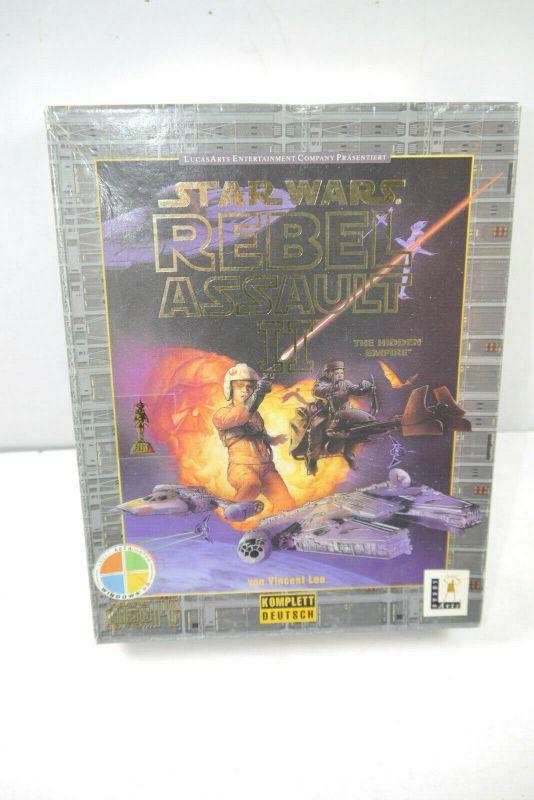 STAR WARS Rebel Assault II PC Spiel deutsch Windows 95 LUCAS ARTS (K26)
