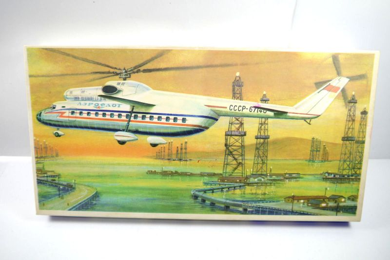 VEB PLASTICART MI-6 Hubschrauber Helicopter Plastik Modellbausatz 1:100 (F21)