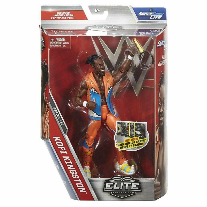 WWE NETWORK Elite Collection - Kofi Kingston Actionfigur MATTEL ca.17cm Neu (L)