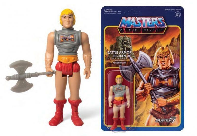 MASTERS OF THE UNIVERSE Battle Armor  He-Man ca. 10cm  ReAction (KB5)*