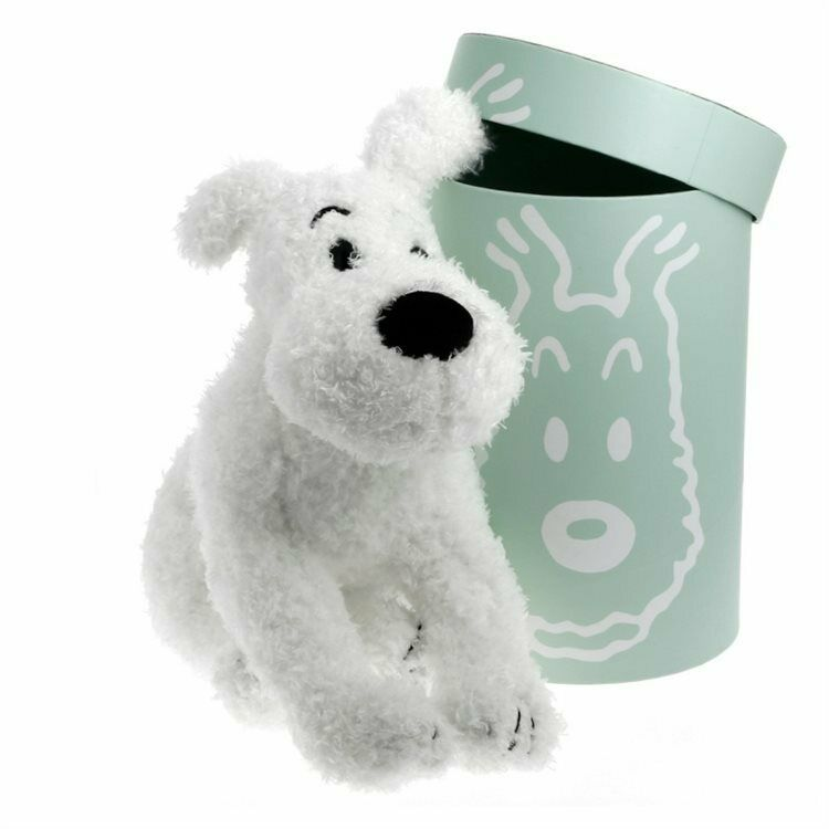 TIM & STRUPPI Tintin Milou  plush Soft MOULINSART ca.37cm in Dose mint (L)*