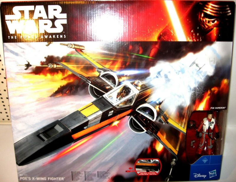 STAR WARS The Force Awakens - B3953 Poe 's X-Wing Fighter + Actionfigur Set (L)*